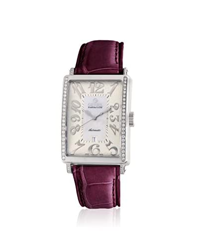 Gevril Women's 6209NE Glamour Diamond White Leather Watch