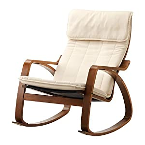 Ikea Poang Rocking Chair Medium Brown With Cushion Kitchen