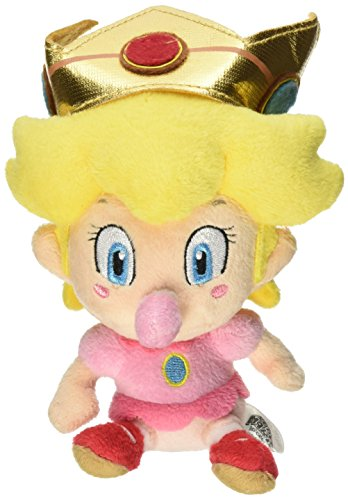 "5"" Official Sanei Baby Peach Soft Stuffed Plush Super Mario Plush Series Plush Doll Japanese Import - 1"