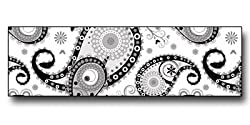 "TapeTastic Scrapbook / Stationary Decorative Respsionable Tape, Paisley 3/4"" x 2.5 yds, Black"