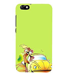 Love Couple 3D Hard Polycarbonate Designer Back Case Cover for Huawei Honor 4X :: Huawei Glory Play 4X