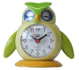 Trevi Lilla And Lallo Brightly Coloured Bird Design Childs Bedside Alarm Clock, Lilla Green