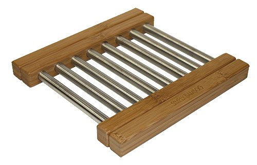 Expandable Bamboo & Steel Trivet by Simply Bamboo
