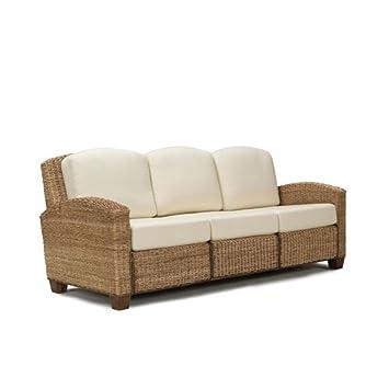 Home Styles 5401-61 Cabana Banana 3 Seat Sofa, Honey Oak Finish