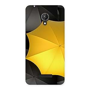 Yellow Black Umbrella Back Case Cover for Micromax Canvas Spark Q380