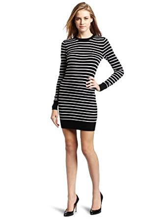 French Connection Women's Sydney Knits Strip Sweater, Black, 0