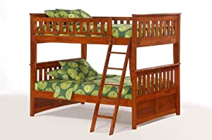Night & Day Ginger Full Over Full Bunk Bed Cherry by Night & Day Furniture
