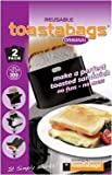 Pack of Two Non-Stick Re-usable Toaster Bags