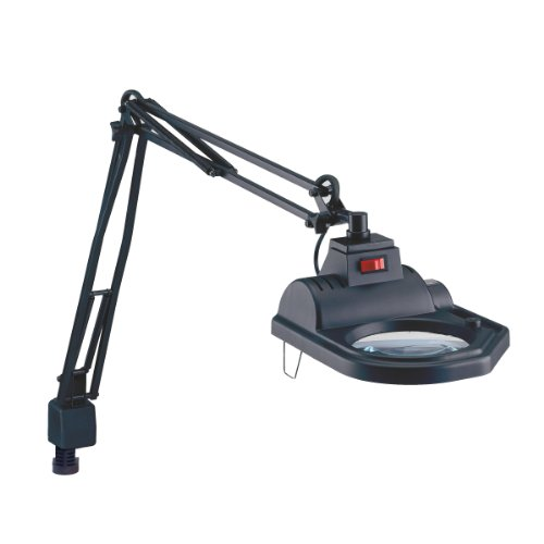 Electrix 7426 BLK Magnifier Lamp, Halogen, 3-Diopter, Clamp-on Mounting, 45