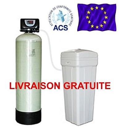 Aquamat - Adoucisseur D'Eau Volumétrique Volga Bi Bloc 33 Litres De Résine. De 5 À 10 Personnes (En Fonction Du Taux De Calcaire). Vanne