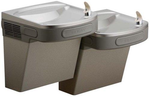 Elkay EZSTL8LC ADA Compliant Barrier Free Dual-Level Water Cooler, 8 Gallons Per Hour