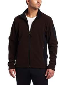 Colorado Clothing Men's Tech Fleece Jacket (Chocolate, Small)