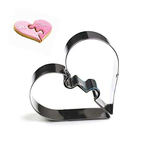 FairyTeller 2 Hearts Cookie Tools Cutter Mould Biscuit Press Icing Set Stamp Mold Stainless Steel Cake Mold Kitchen Dining Bar Alibaba China
