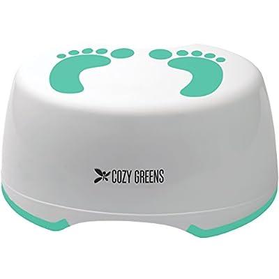 Cozy Greens® Child Step Stool | Stepping Stool for Children | Perfect for Kids Bathroom or Toddler Toilet Training | Anti-Slip Foot Stool | BONUS Potty Training eBook | Lifetime Satisfaction Guarantee