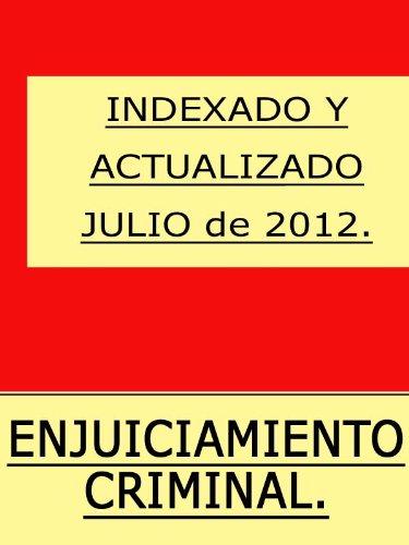 Ley de Enjuiciamiento Criminal (España) con índice.