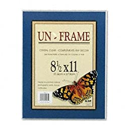 Nudell - 3 Pack - Un-Frame Box Photo Frame Plastic 8-1/2 X 11 Clear \
