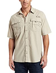 Columbia Men\'s Bahama II Short Sleeve Shirt, Fossil, Large