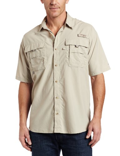 Columbia Men's Bahama II Short Sleeve Shirt,Fossil,X-Large