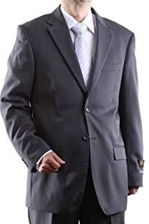 Men's Single Breasted Two Button Gray Dress Suit