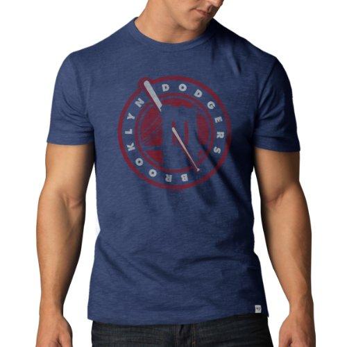Mlb Los Angeles Dodgers Men'S 100257 Cooperstown Scrum Basic Tee, X-Large, Bleacher Blue