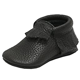 Mejale Baby Soft Sole Leather Tassel Slip-on Infant Toddler Baby Shoe Pre-walker
