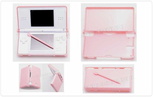FPUK NINTENDO DS LITE PINK PROTECTIVE CRYSTAL HARD CARRY CASE WITH STYLUS