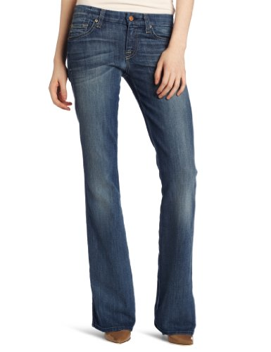 7 For All Mankind Women's Pocket Bootcut Jean, Heritage Light