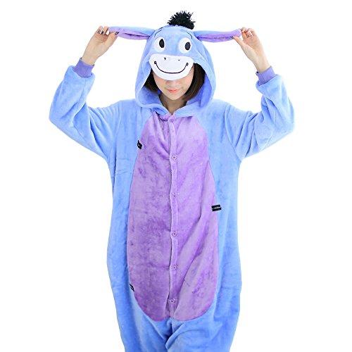 Y&T Unisex Kigurumi Adult Onesie Pajamas Christmas Cosplay Costumes Homewear Eeyore Donkey S