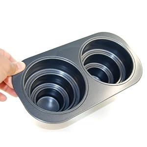 2 Cavity Three Tier Cake Pan