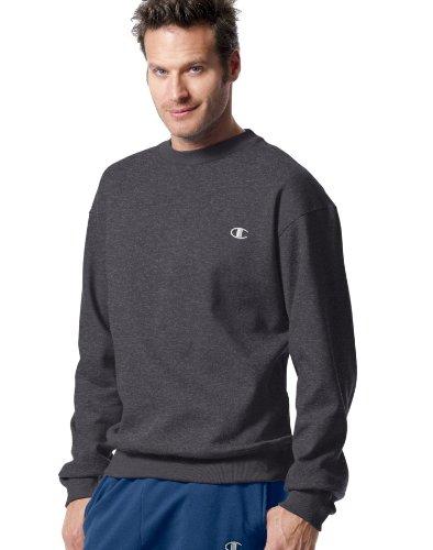 Champion Men's Pullover Eco Fleece Sweatshirt, Granite Heather, Medium (The Champion compare prices)