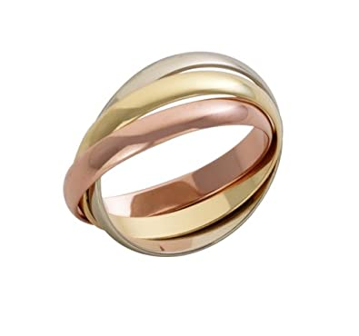 Theia 9ct Three Coloured Gold Russian Wedding Ring
