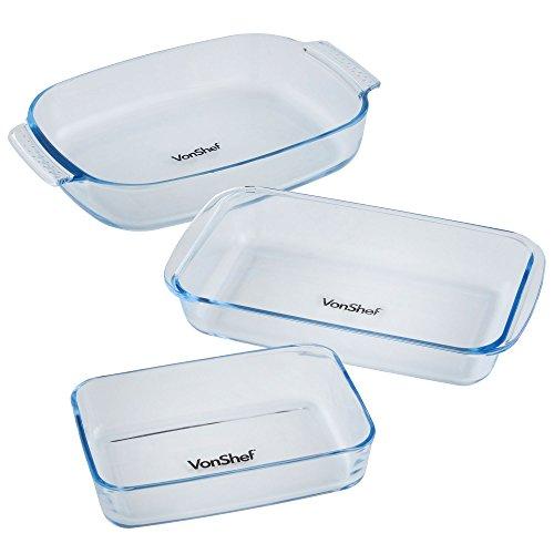 vonshef-glass-roasting-dish-set-of-3-free-2-year-warranty