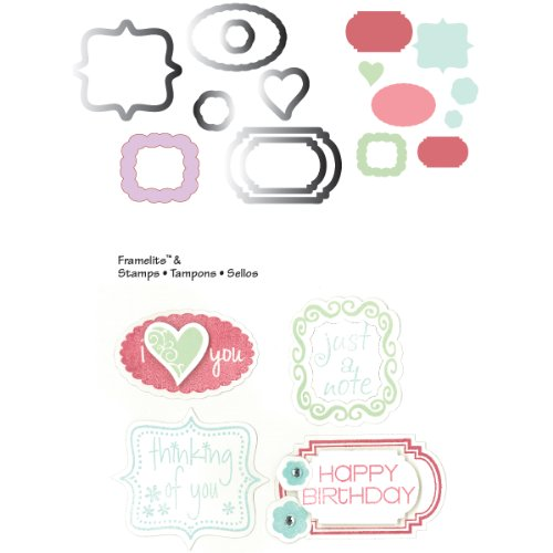 Sizzix Framelits Dies 8/Pkg With Cling Stamps-Birthday & Frames