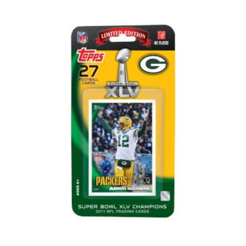 Topps Nfl Green Bay Packers 2011 Super Bowl 45 Champions Team Set Picture