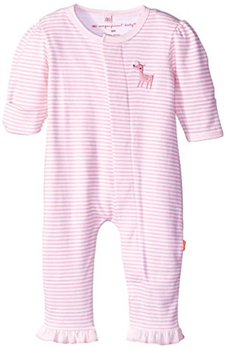 Magnificent Baby Baby-Girls Long Sleeve Union Suit, Woodland Stripes, 6 Months