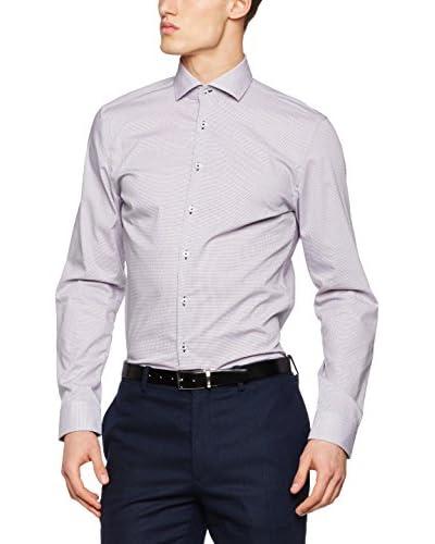 Seidensticker Camisa Vestir Super Slim Morado / Blanco