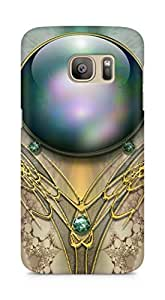 Amez designer printed 3d premium high quality back case cover for Samsung Galaxy S7 Edge (Brooch patterns ball color)