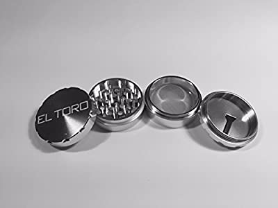 "El Toro 2.5"" Herb Grinder - Anodized 4 Piece Aluminum Assembly by El Toro"