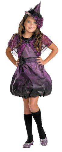 Girls Spider Web Witch Costume - Large