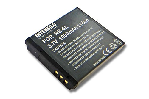 INTENSILO Li-Ion Akku 1000mAh (3.7V) für Kamera Camcorder Video CANON Powershot SX170 is, SX170is, SX240 HS, SX240HS, SX260 HS wie NB-6L.