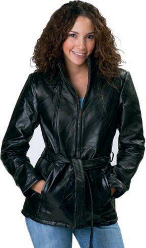 Giovanni Navarre® Italian StoneTM Design Ladies' Genuine Leather Jacket