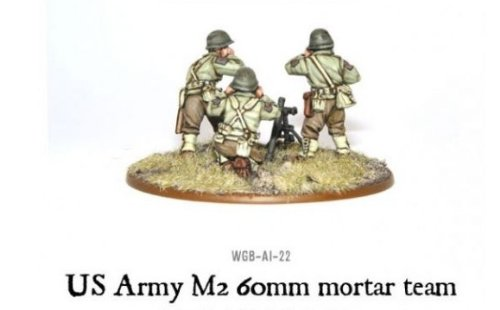 60mm Us Army Mortar Team Miniatures - 1