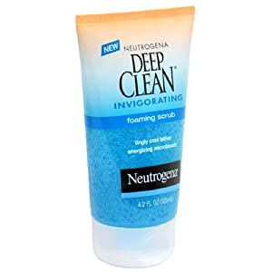 Neutrogena Deep Clean Invigorating Foaming Scrub, 4.2 Ounce (Pack of 3)