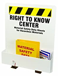 Brady RK373E Prinzing Right to Know Center (1 Each)