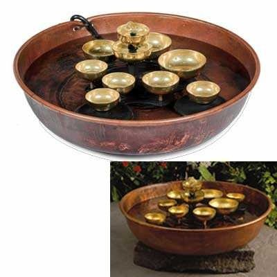 Woodstock Water Bell Fountain - Copper Bowl