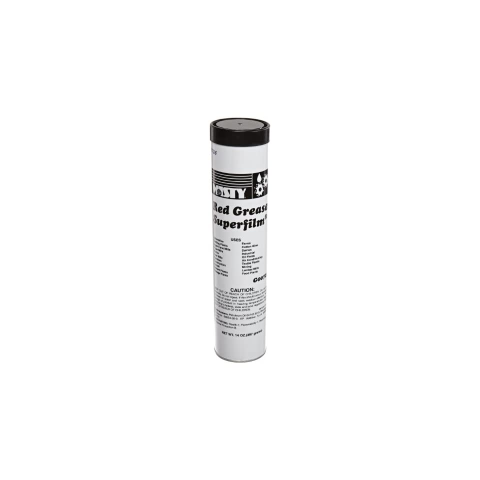 Misty AMR RL726 48 14 oz Extra Heavy Duty Red Grease Tube (Case of 48 Tubes)