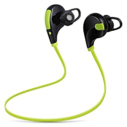 Flexion KS-901 Kinetic Series Wireless Bluetooth Headphones Noise Cancelling Headphones with Microphone/Running/Gym/Exercise/Sweat proof for iPhone 6, 6 Plus, 5 5C 5S 4 & Android