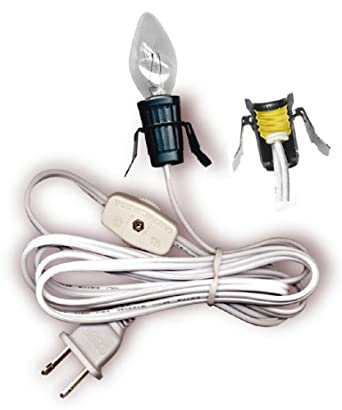 Cord Set With Clip-In Style Socket, Switch And Bulb. 6 Foot Length