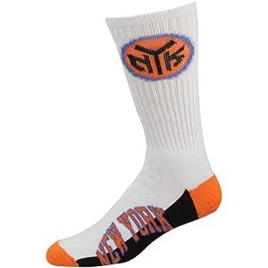 NBA New York Knicks Mens Crew Socks, Large by For Bare Feet