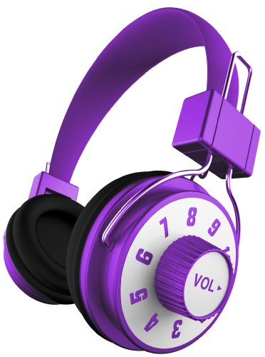 Ihip Ip-Knob-Pr Dj Style Adjustable Volume Control On Headphone With Mic, Purple